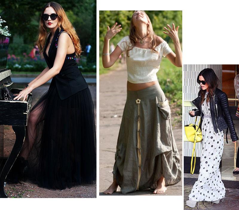 что модно носить сегодня с юбкой макси