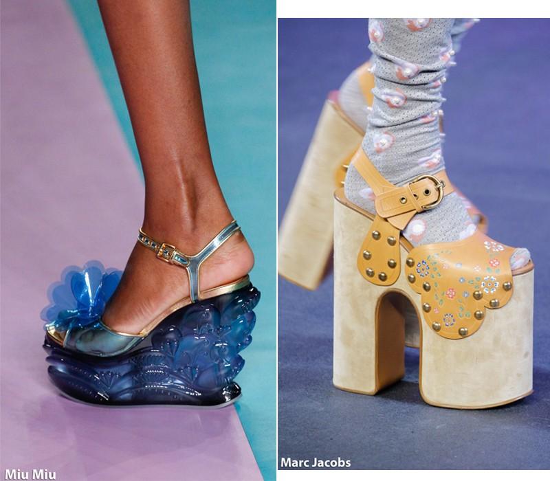 дизайнеры предлагают обувь с толстым каблуком