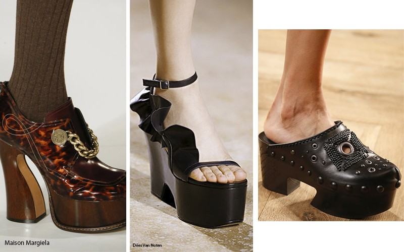 Обувь из различных оттенков дерева в тренде
