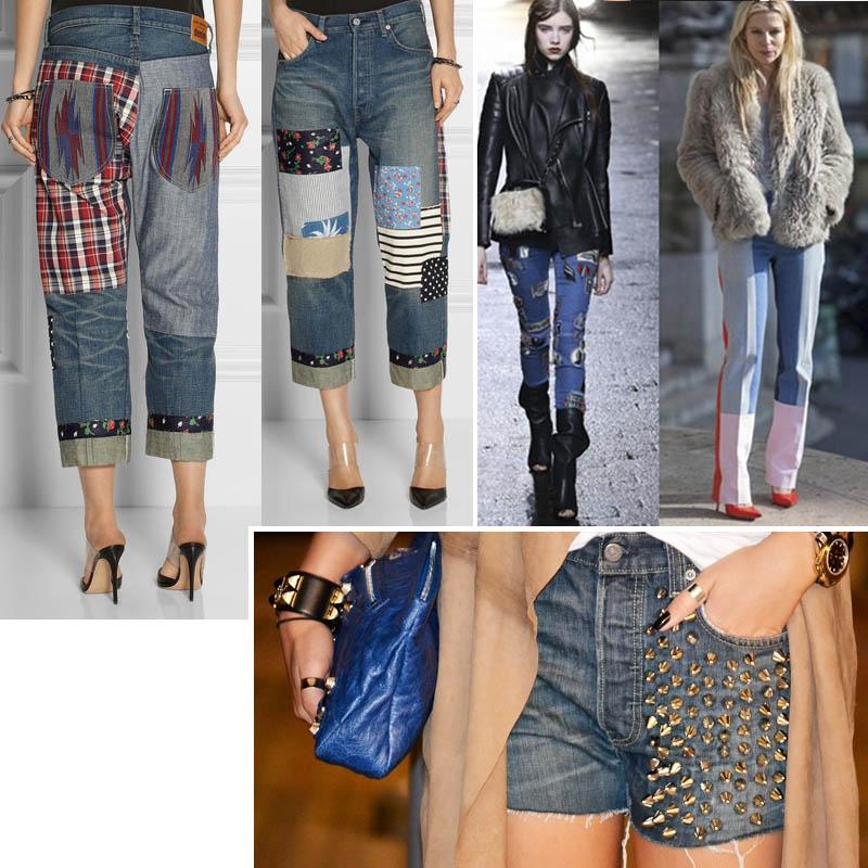 эффект потертых джинс