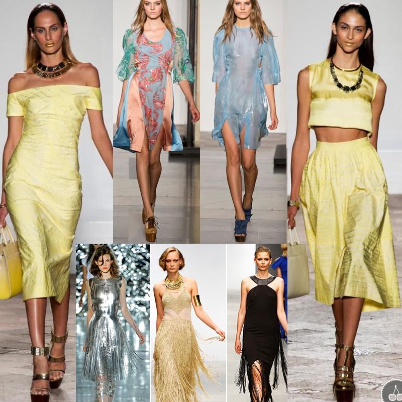 В жаркие летние дни оригинальный комплекты одежды, выполненные из металлизированных тканей повергнут в жар прохожих.