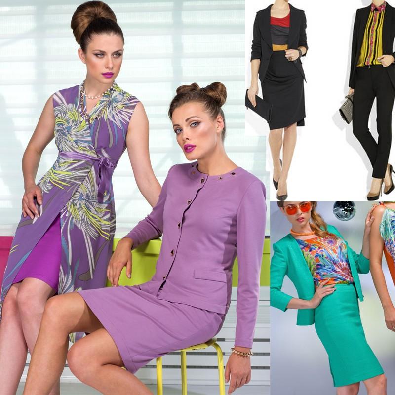 Деловой дресс-код лета 2018 позволяет не только яркую цветовую гамму, можно надевать на работу платья, сшитые из атласа, а также модных металлизированных тканей.