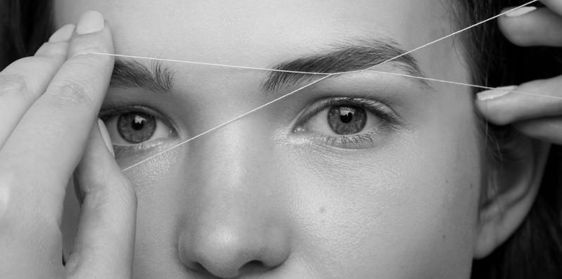 Эпиляция шелковой нитью