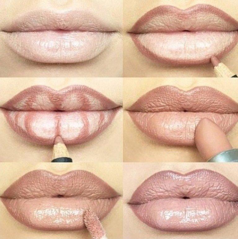 Как увеличить губы с помощью карандаша