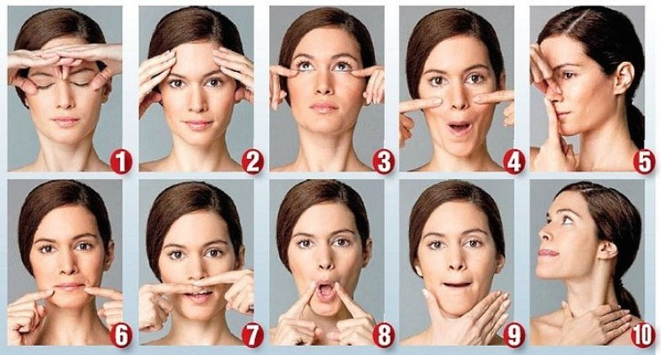 Упражнения от брылей на лице