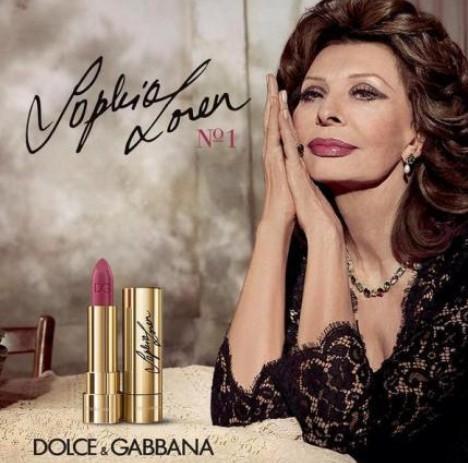 Софи Лорен в рекламе Дольче и Габбана
