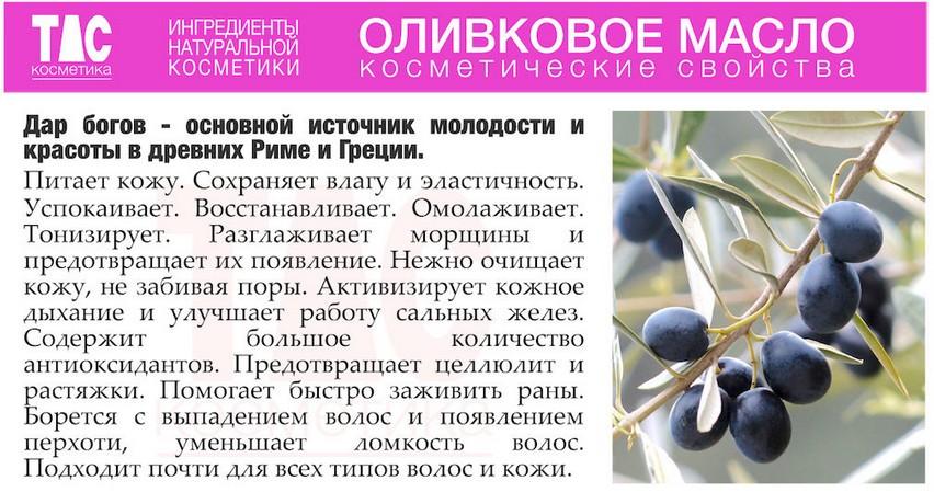 Косметические свойства оливкового масла