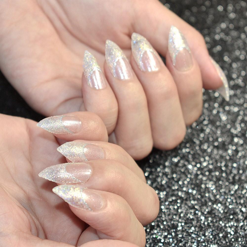 ювелирных блестящие острые ногти фото таком случае важно