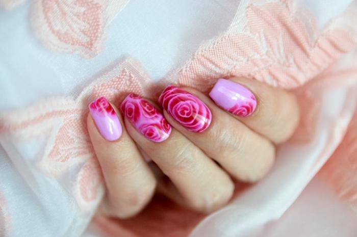 Оригинальный дизайн ногтей в винтажном стиле