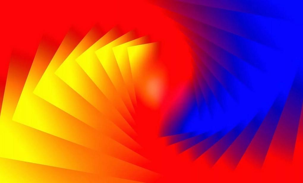 Синий желтый красный