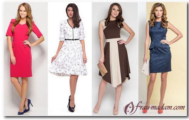 платье для прямоугольного типа фигуры