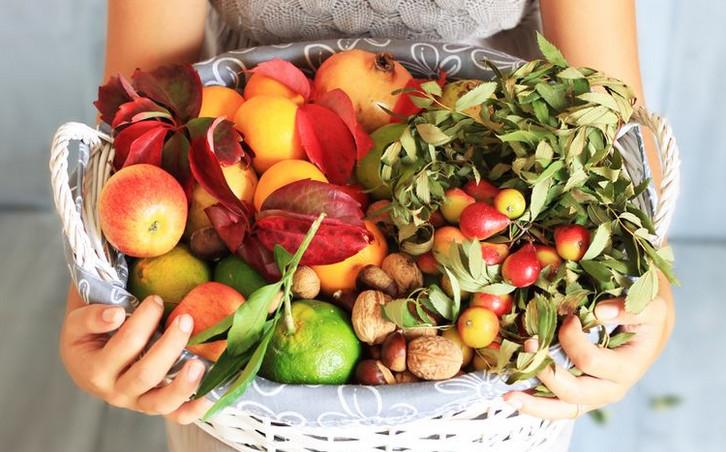 Полезные продукты осеннего меню