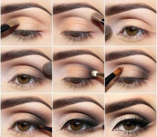 Эффеткный макияж для карих глаз