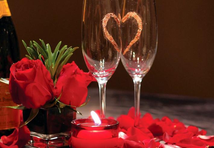 День Святого Валентина в ресторане