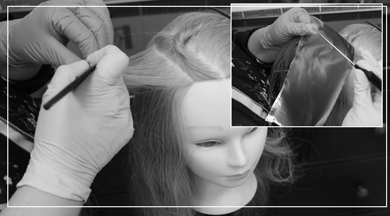 Как сделать мелирование волос на фольге