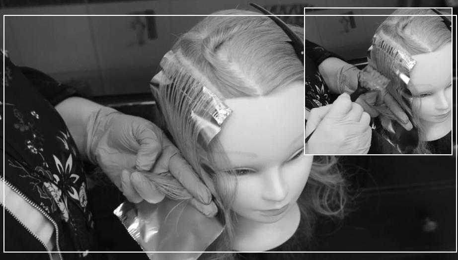 Мелирование фольгой на длинных волосах