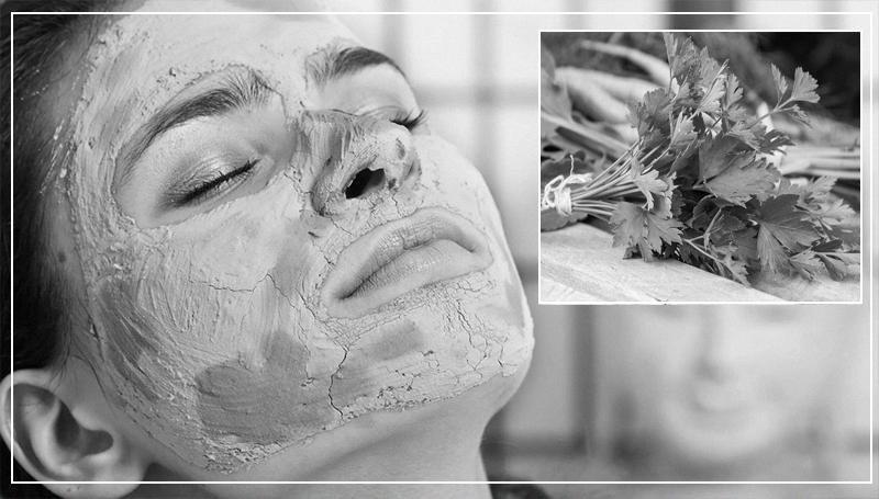 Маска для лица из пертрушки