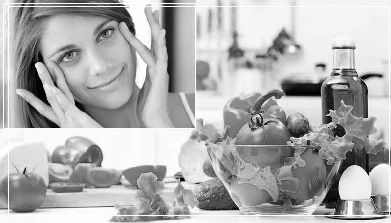 Как пища влияет на кожу лица