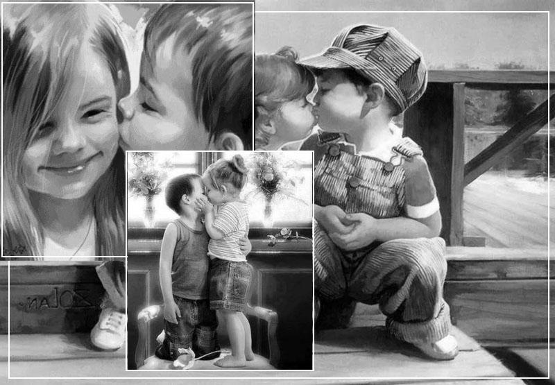 Первый поцелуй мальчика с девочкой
