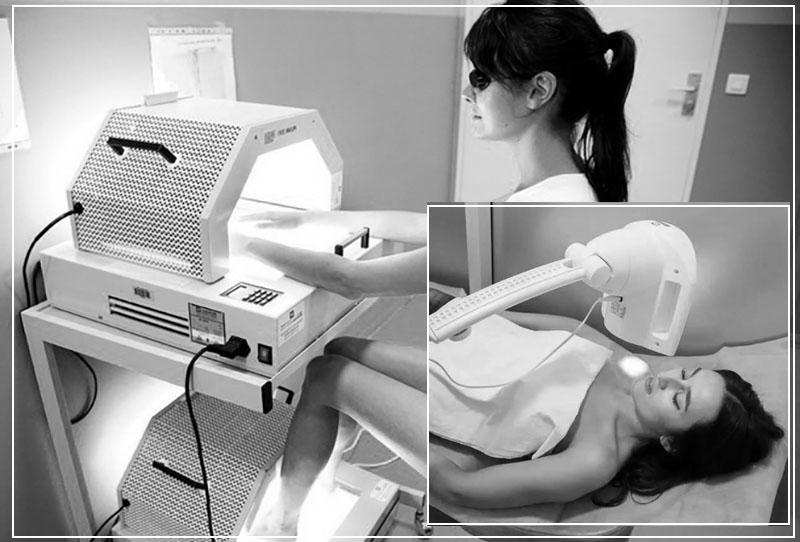 Проведение светотерапии в салоне