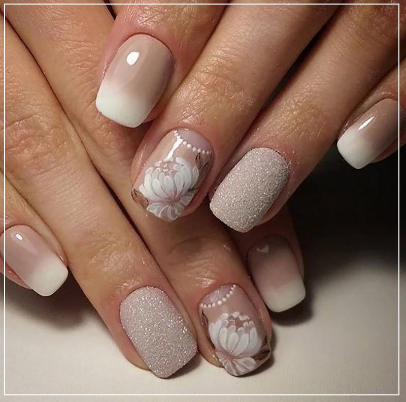 Бежевый дизайн ногтей с нежным градиентным эффектом