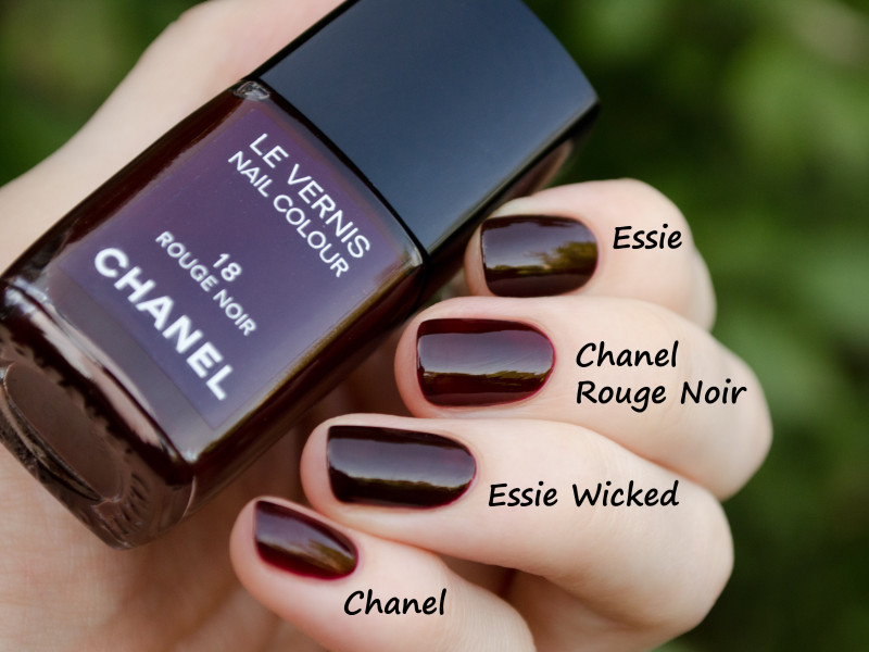 Chanel Rouge Noir и Essie Wicked