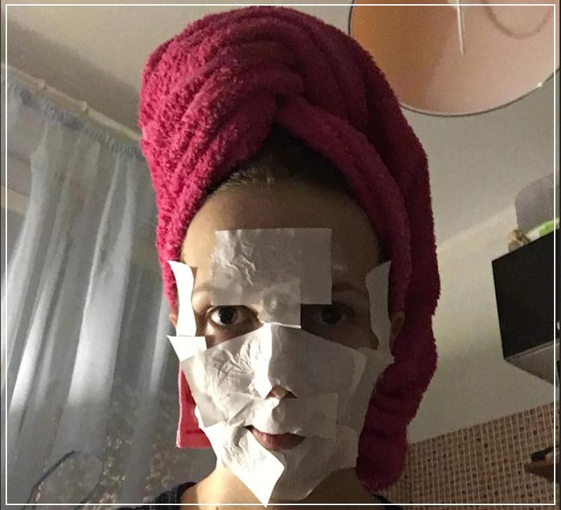Очищение пор на лице с помощью маски