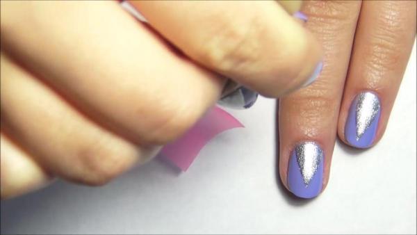 Быстрый маникюр для коротких ногтей 25