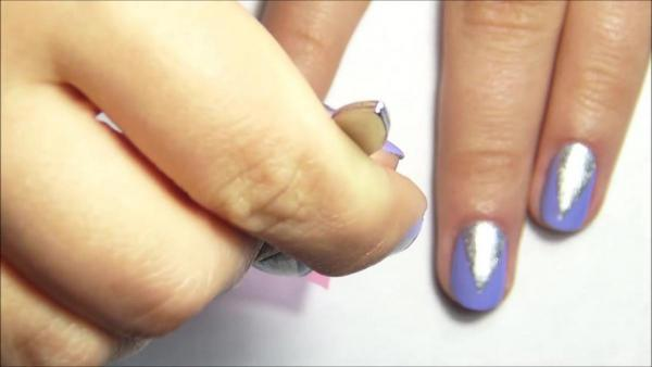 Быстрый маникюр для коротких ногтей 26