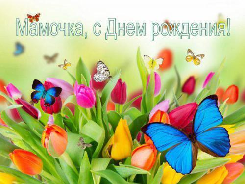 Любимой маме бабочки