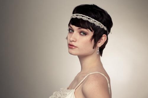 Ретро макияж для голубоглазой девушки