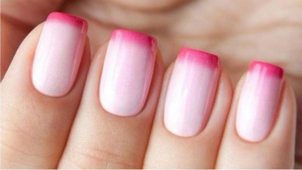 Розовый френч с градиентом