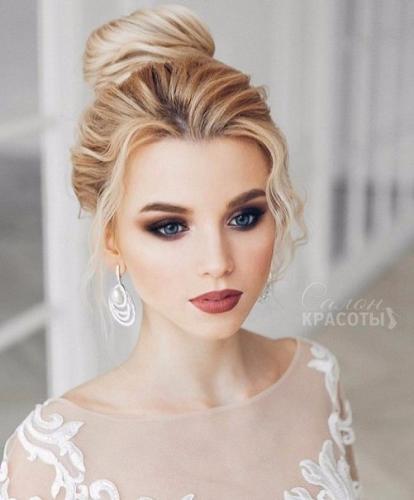 Свадебный макияж блондинки