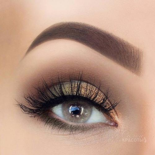 Макияж на каждый день для серых глаз