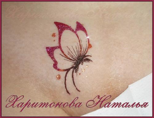 Бикини дизайн бабочка