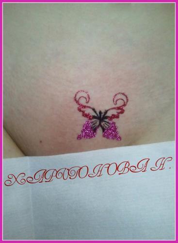 Прическа бабочкой