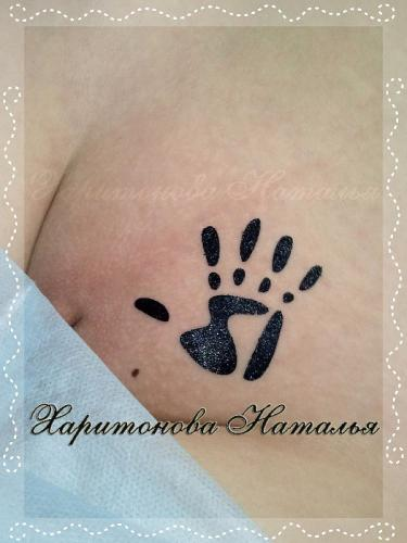 Бикини дизайн рука