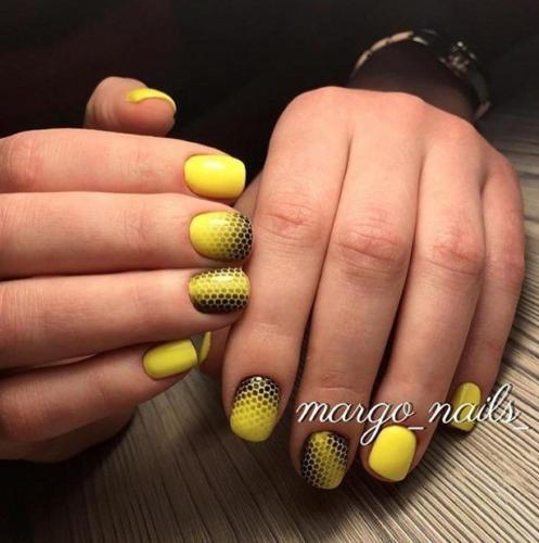 Желтый и лиловый оттенок