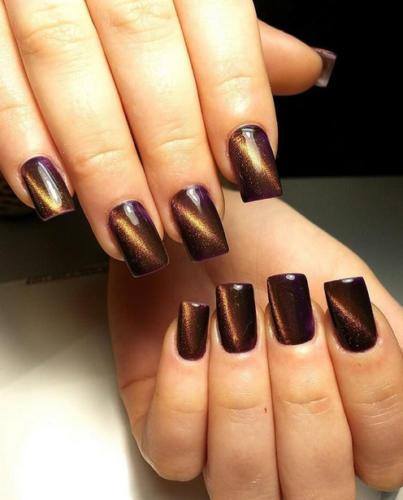 Тренд коричневых ногтей на 2018 год