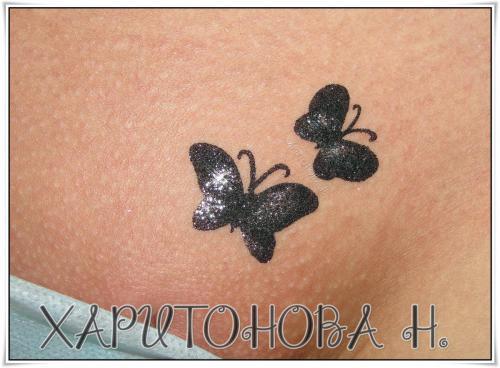 Бикини дизайн Две бабочки