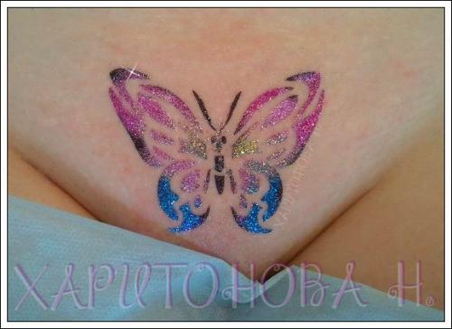 Бикини дизайн большая бабочка со стразами