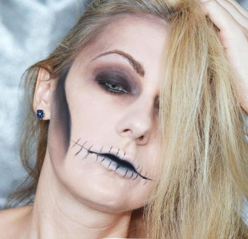 makeup Halloween Простой макияж на Хеллоуин. Череп или Кощей бессмертный DSC 0104м